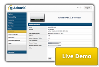 Would you like to evaluate AskoziaPBX for your business? For this purpose we offer our Live Demo and Diet Askozia.
