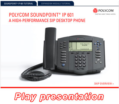 SoundPoint IP 601 Online Presentation - Video