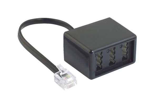 voipdistri voip shop rj11 telefonadapter western stecker 6 4 auf tae nfn buchse. Black Bedroom Furniture Sets. Home Design Ideas