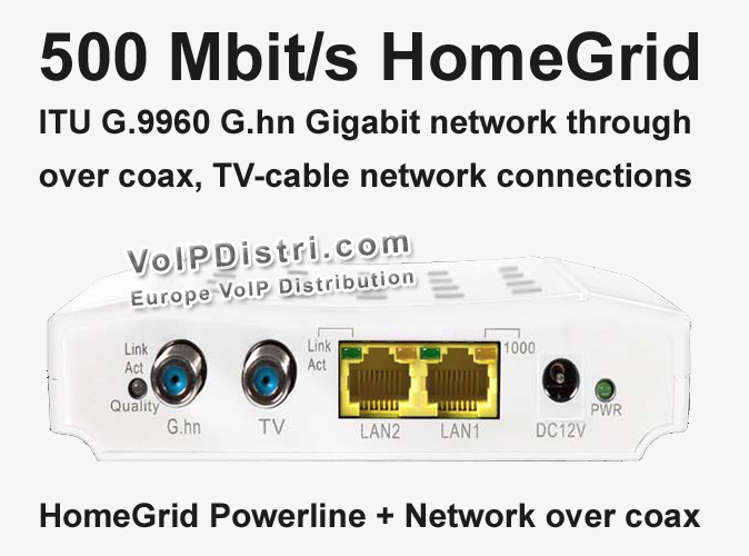 VoIPDistri VoIP Shop - 500 Mbit/s G.HN Modem, HomeGrid ITU G.9960 ...