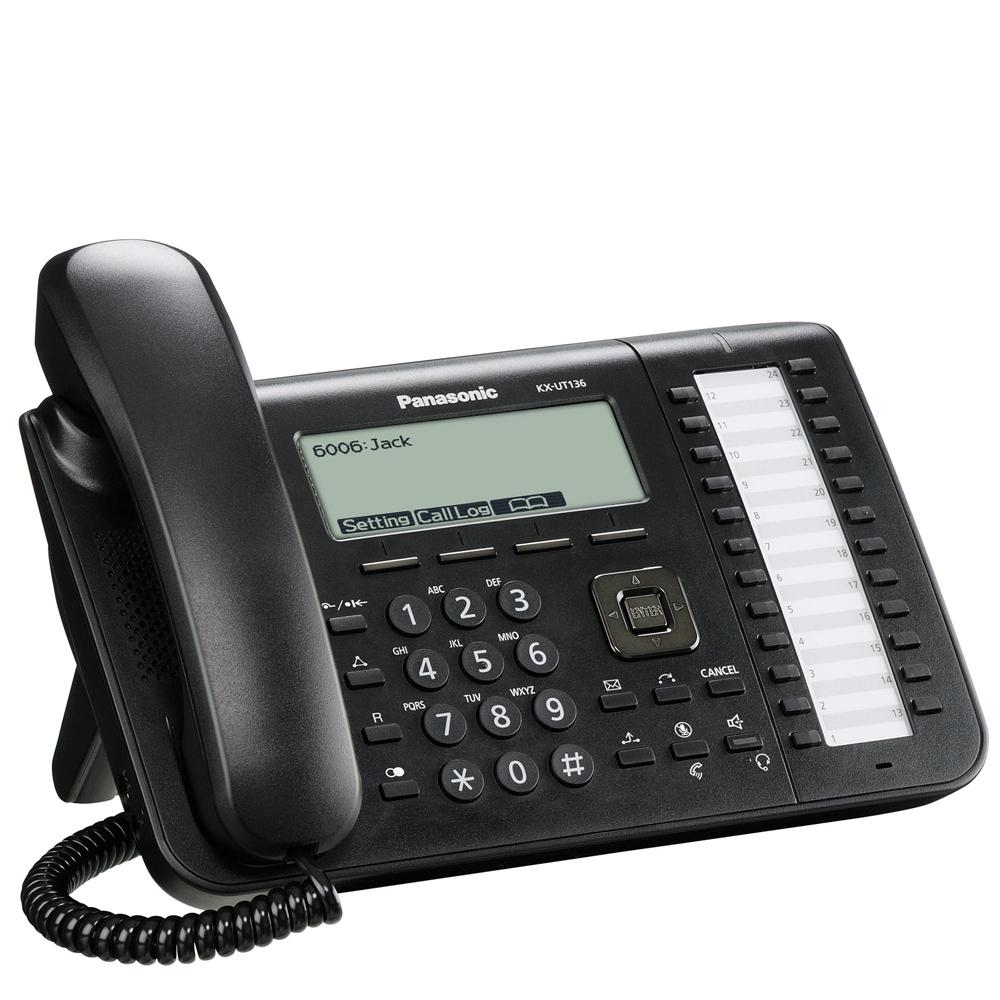 Panasonic Sip Kx Ut136 Office Desk Phone Ut136ne B