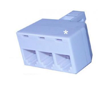 voipdistri voip shop rj11 splitter 3 way rj11 rj11. Black Bedroom Furniture Sets. Home Design Ideas