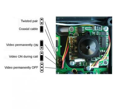 Helios color video camera kit - 9135210E (only analog door phone / no IP)
