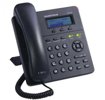 GXP1400/1405 is a next generation small-to-medium business IP phone that features 2 lines with 2 SIP account, a 128x40 graphical LCD, 3 XML programmable context-sensitive soft keys, dual network ports with integrated PoE (GXP1405 only), and 3-way conferen