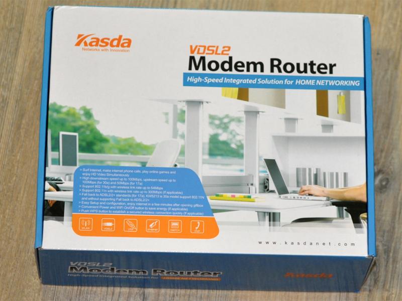 VoIPDistri VoIP Shop - Kasda KW5212 VDSL2 / ADSL2 + Wireless Modem