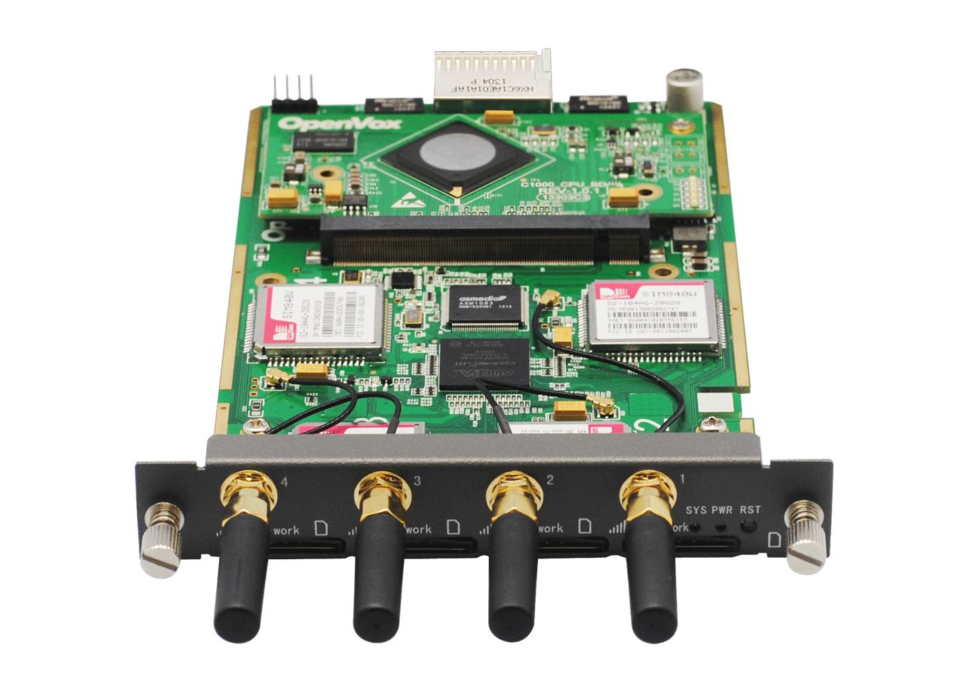 OpenVox VS-GGU-EIM401 (M35 module, Max power: 180W), VoxStack GGU-EIM401 4  GSM ports adapter module with Echo Cancellation, Multiple languages