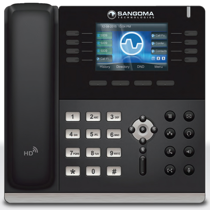 Sangoma s500 IP Phone with FreePBX Integration, Dual-port Gigabit Ethernet
