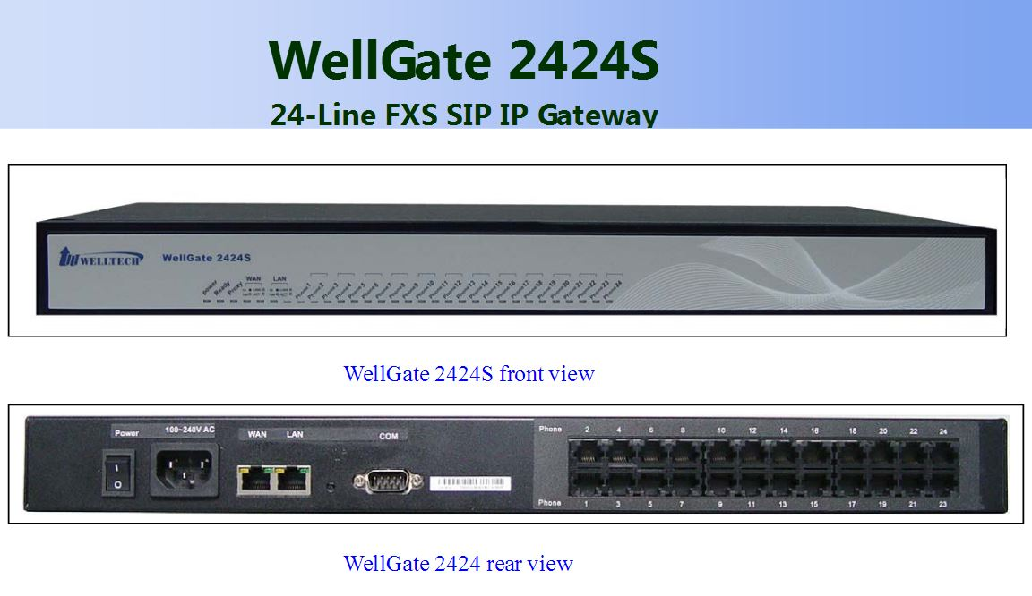 VoIPDistri VoIP Shop - Welltech WellGate 2424s – 24 Port FXS Analog