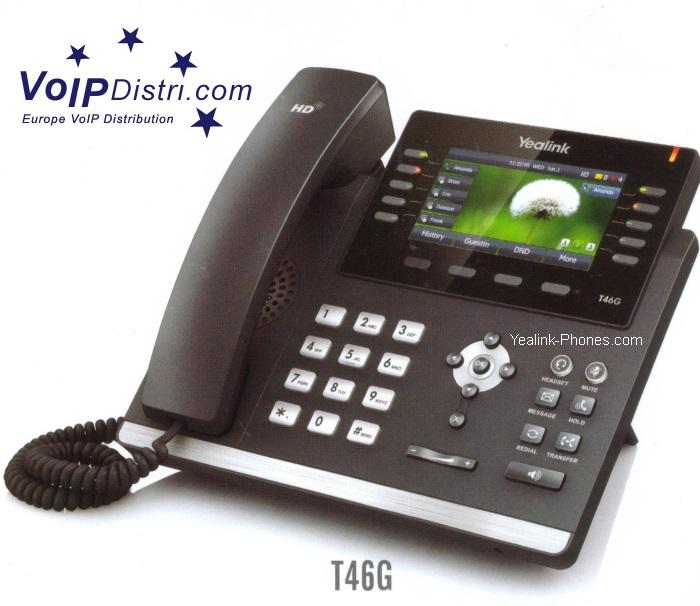 voipdistri voip shop yealink sip t46g ultra elegant gigabit ip phone bluetooth hd voice. Black Bedroom Furniture Sets. Home Design Ideas