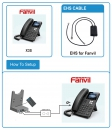 Fanvil EHS headset adapter for JABRA (Jabra PRO 920, PRO 9450, PRO 9470 and others with DHSG software)