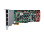 OpenVox X204E Hybrid PCIe Card (Analog, BRI and E1)