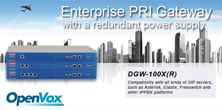 OpenVox Digital Gateways with redundant power supply